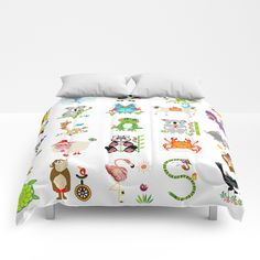 Our comforters are cozy, lightweight pieces of sleep heaven. Designs are printed onto 100% microfiber polyester fabric for brilliant images and a soft, premium touch. Lined with fluffy polyfill and available in king, queen and full sizes. Machine washable with cold water gentle cycle and mild detergent. https://society6.com/product/jungle-bungle_comforter?curator=heavenseven