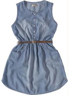 Vestido Jeans Infantil (Cinza) Carinhoso
