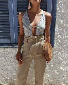 High waisted summer pants Chic&Style