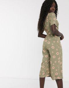 Mono largo con estampado floral y lazo anudado a la cintura de Glamorous   ASOS
