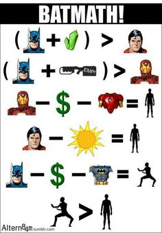 It's science. Batman is better than Superman and Ironman.