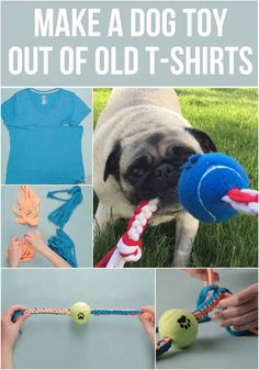 Make An Epic Toy For Your Dog Out Of Your Old T-Shirts