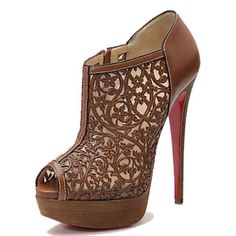 Christian Louboutin Pampas 150mm Leather Ankle Boots Tan
