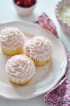 receta de cupcakes de frambuesa y coco