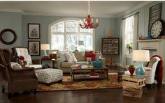 colorful & eclectic living room