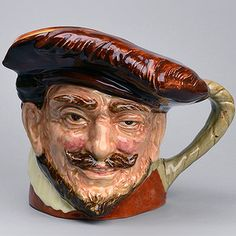 Very Rare Royal Doulton Character Jug/Toby Mug Red Drake with Hat (Trial Colourway) - differs as robes are brown not green
