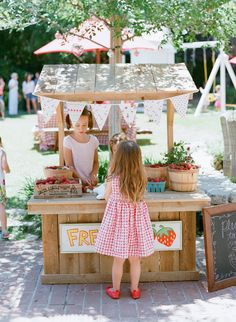 Adorable Strawberry Stand |  Tiffani Thiessen's Strawberry Party…