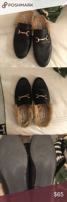STEVE MADDEN JILL LOAFERS 9.5 EUC !! I love these shoes and they are an amazing Gucci dupe but I truly needed a size 10 and it's way to late to return! I only wore them maybe 3 time! Super fashionable! Steve Madden Shoes Flats & Loafers