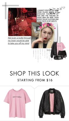 """96LISA"" by highlightvevo ❤ liked on Polyvore featuring GET LOST, MANGO, H&M and adidas"