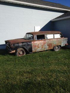 1955 Chevy.... Slap some wheels on & GO!!!