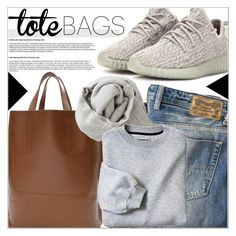 Tote Bags by martso on Polyvore featuring polyvore fashion style Diesel adidas Originals Louis Vuitton Brunello Cucinelli women's clothing women's fashion women female woman misses juniors