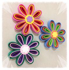 Flores con tiras de foamy