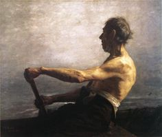 Theodore Clement Steele-The boatman
