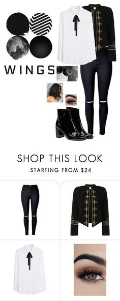 """Sem título #939"" by army-forever on Polyvore featuring moda, Yves Saint Laurent e MANGO"