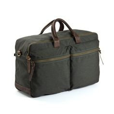 Marcus Trip Dark Olive | WAXED CANVAS | LEATHER |STYLISH BAGS | CLASSIC DESIGN | MEN'S BAGS | TRAVEL |