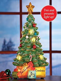 Led Merry Christmas Tabletop Lamp Post Collections Etc http://www ...
