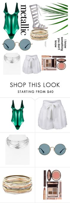 """🍏🍈🥝🍐🌱🌲🌳🌴 Greeny"" by triciabae2055 on Polyvore featuring Boohoo, Robert Lee Morris, Ray-Ban, Kendra Scott and Charlotte Tilbury"
