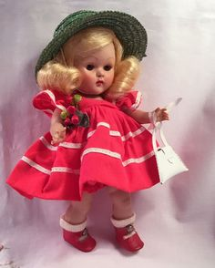 "VOGUE Strung Ginny Doll 1953 ""Glad"" #42 of Tiny Miss Series WITH BOX~Gorgeous…"