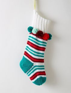 Yarnspirations.com - Caron Stripe the Halls Stocking - Patterns  | Yarnspirations