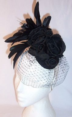 images of fascinator hats | Silk flower feather fascinator Amelia Fascinator