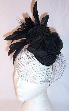 images of fascinator hats   Silk flower feather fascinator Amelia Fascinator