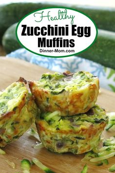 These Healthy Zucchini Egg Muffins have just 4 INGREDIENTS! Perfect for a low-carb breakfast or snack! These Healthy Zucchini Egg Muffins have just 4 INGREDIENTS! Perfect for a low-carb breakfast or snack! Zuchinni Recipes, Egg Recipes, Low Carb Recipes, Cooking Recipes, Healthy Recipes, Detox Recipes, Diabetic Recipes, Chicken Recipes, Recipies