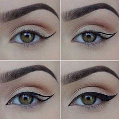 Winged Eyeliner Tutorials - How to Achieve the Perfect Winged Eyeliner- Easy Step By Step Tutorials For Beginners and Hacks Using Tape and a Spoon, Liquid Liner, Thing Pencil Tricks and Awesome Guides for Hooded Eyes - Short Video Tutorial for Perfect Simple Dramatic Looks - thegoddess.com/winged-eyeliner-tutorials #dramaticwingedliner #wingedlinertricks