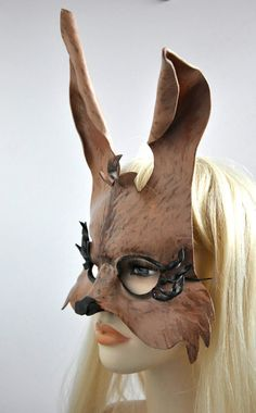 Sexy Bunny Mask in leather called Jessica by Hawk & by HawkandDeer, $65.00
