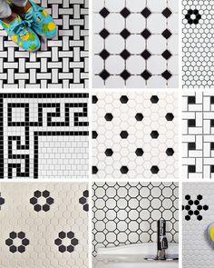 Budget Basics: Our Favorite Vintage Mosaic Floor Tiles for the Bathroom - Art Station 2020 Vintage Bathroom Floor, Vintage Tile Floor, Vintage Bathrooms, Modern Bathroom, 1950s Bathroom, Small Bathroom, Master Bathroom, Mosaic Bathroom, Bathroom Floor Tiles