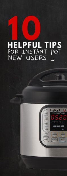 For New Instant Pot Users to learn how to use Instant Pot Electric Pressure Cooker: Safety Tips, Pressure Release, Recipe Adaptation & more. via @pressurecookrec