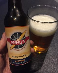 I just checked out for the very first time the German #doubleipa #aufwind by the #propellerbrewery from #badlaasphe . Very light and sweet for a #doubleindiapaleale . #axelritt #ironfinger #the_real_ironfinger #craftbeer @propellerbeer #aufwindipa