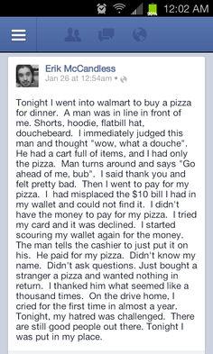 Faith in humanity!!!