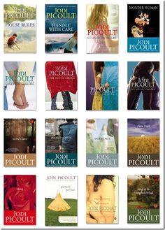 Books by Jodi Picoult.    I love reading them!