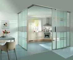 Resultado de imagen de paredes de cristal cocina