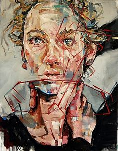 Andrew Salgado-could put gesture on top of completed painting! Abstract Portrait, Portrait Art, Potrait Painting, Francis Picabia, Texture Photography, A Level Art, Ap Art, Art Sketchbook, Famous Artists