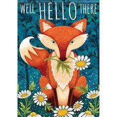 Hello There Fox Garden Dura Soft™ Flag