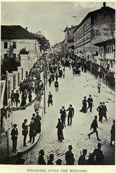 Belgrade after murder of King Alexander and Queen Draga