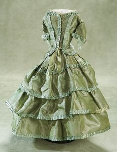 Other People's Lives: 22 French Silk Satin Gown for Lady Doll,Circa 1865