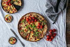 vegaaninen kasvispiirakka3-5 Veggie Recipes, Cooking Recipes, Veggie Food, Vegetable Pizza, Veggies, Yummy Food, Snacks, Vegan, Baking