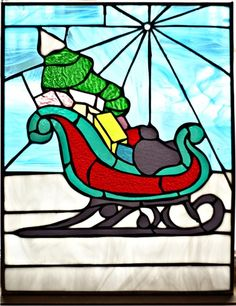 nadine grundy sleigh stained glass pattern panel