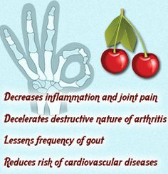 Cherry juice benefits for arthritis