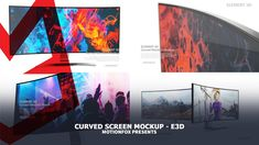 Curved Screen Mockup – Element – After Effects Project After Effects Projects, After Effects Templates, Bar Graphs, Creative Video, Character Design Inspiration, Motion Graphics, Mockup, Monitor, Infographic