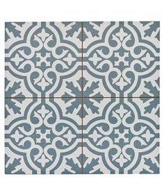 Capturing the artisanal look of cement tile, the Merola Tile Berkeley Blue Encaustic in. Ceramic Floor and Wall Tile offers an encaustic, old-world design that can blend into any decor. Bathroom Floor Tiles, Tile Floor, Modern Bathroom, Floor Tiles Hallway, Green Bathrooms, Hall Tiles, Entry Tile, Dyi Bathroom, Family Bathroom