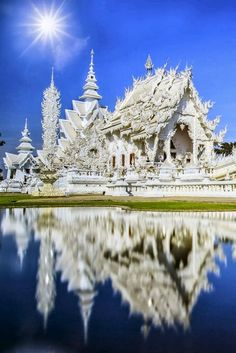 Rong Khun temple, Chiang Rai province, northern Thailand Explore the World with Travel Nerd Nici, one Country at a Time. http://TravelNerdNici.com