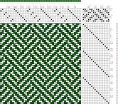 Hand Weaving Draft: 16473, 2500 Armature - Intreccio Per Tessuti Di Lana, Cotone, Rayon, Seta - Eugenio Poma, 8S, 16T - Handweaving.net Hand Weaving and Draft Archive