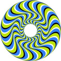 Optical illusion...  I think I spent a full 20 minutes just watching this stupid thing