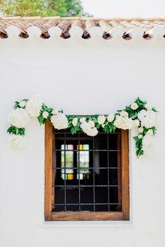Wedding in Spetses Island Greece Poseidonion Hotel Wedding Reception, Our Wedding, Destination Wedding, Bistro Lights, Greece Wedding, White Ribbon, Grand Hotel, Greenery, Wedding Decorations