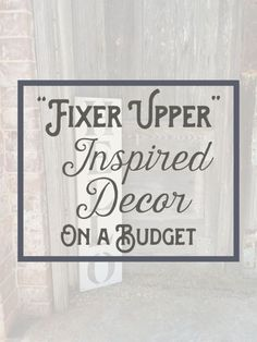 "Admit it, HGTV fans, you've probably at some point dreamt of Chip and Joanna fixing up your house and giving it a refresh. If you long for the rustic, farmhouse charm featured on your favorite show, good news! It might be more doable than you think. Check out this eBay guide on ""Fixer Upper"" inspired décor on a budget. Because your home can always use more shiplap."