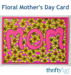 Here is a great FREE mini adult-coloring-project-turned-card for Mother's Day. Mothers Day Crafts, Feeling Loved, Adult Coloring Pages, How To Draw Hands, Diy Crafts, Make It Yourself, Mini, Floral, Projects