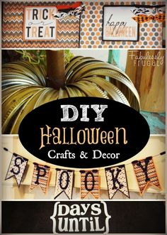Awesome round-up of 12 family-friendly DIY Halloween decorations! Make your own cute décor for less!
